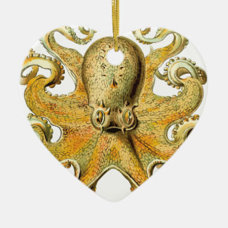 Ornement Cœur En Céramique Poulpe vintage