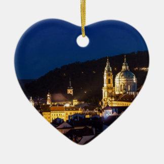 Ornement Cœur En Céramique Praha - Prague