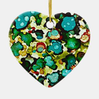 Ornement Cœur En Céramique Pré Flora