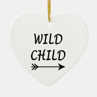 Ornement Cœur En Céramique Présent sauvage d'enfant