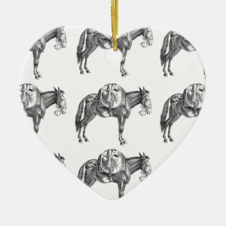 Ornement Cœur En Céramique prière de mule de paquet
