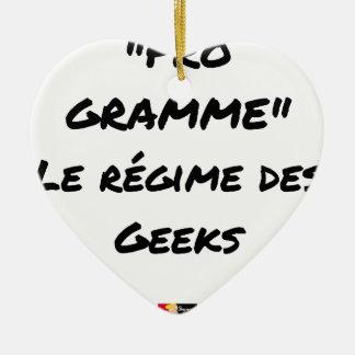 Ornement Cœur En Céramique PRO-GRAMME, LE RÉGIME DES GEEKS - Jeux de mots