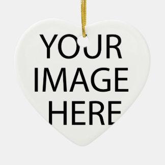 Ornement Cœur En Céramique Produit fait sur commande autour de votre image