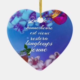 Ornement Cœur En Céramique Profitez d'un agréable moment et vous pour