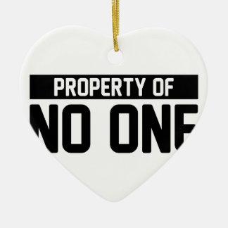 Ornement Cœur En Céramique Propriété sans une