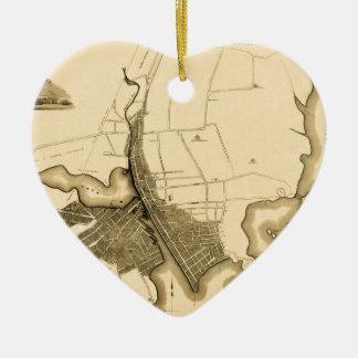 Ornement Cœur En Céramique Providence 1823