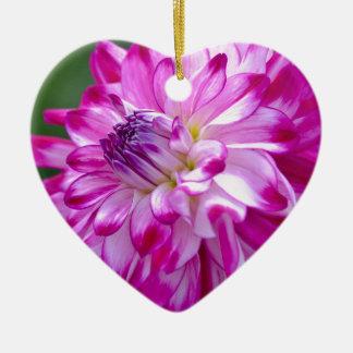 Ornement Cœur En Céramique Prune Flora