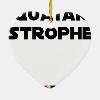 Ornement Cœur En Céramique QUATAR STROPHE - Jeux de mots - Francois Ville