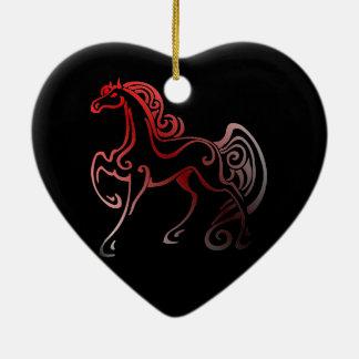 Ornement Cœur En Céramique Queues de cheval