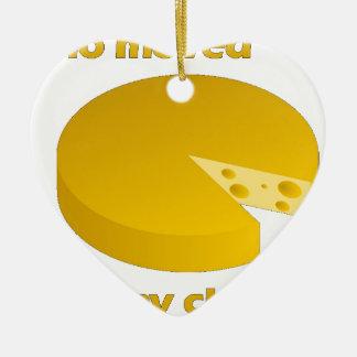 Ornement Cœur En Céramique Qui a déplacé le fromage