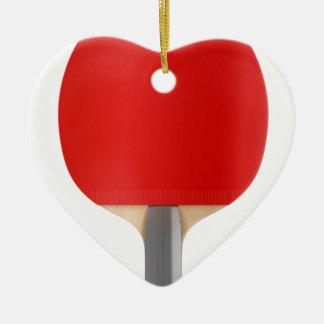 Ornement Cœur En Céramique Raquette de ping-pong