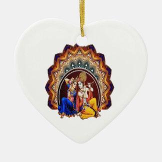 Ornement Cœur En Céramique Rassemblement indou