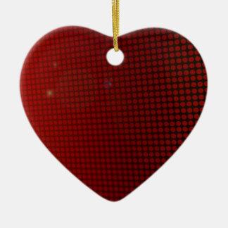 Ornement Cœur En Céramique red halo