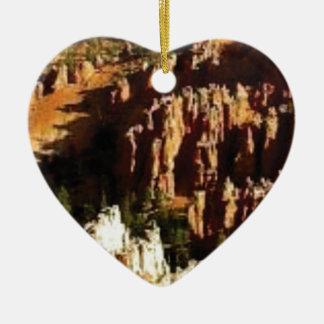 Ornement Cœur En Céramique regard naturel de désert