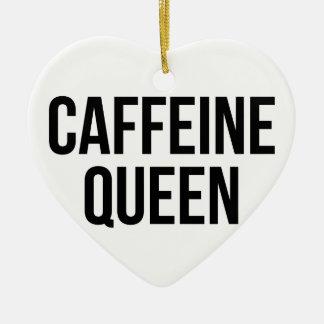 Ornement Cœur En Céramique Reine de caféine