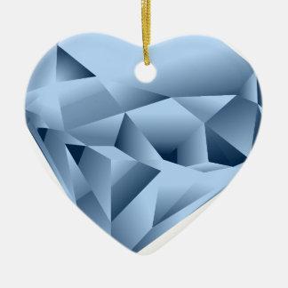 Ornement Cœur En Céramique Ressemble à une gemme