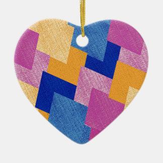 Ornement Cœur En Céramique Résumé géométrique