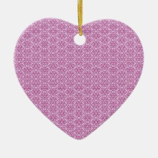 Ornement Cœur En Céramique Résumés magiques rose et pourpre