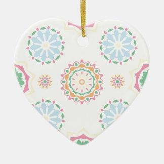 Ornement Cœur En Céramique Rétro conception abstraite de Bohème d'ornement