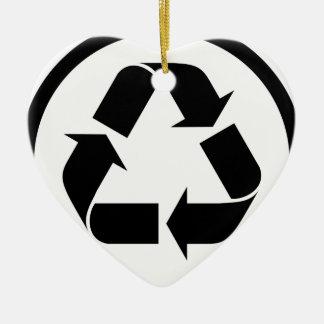 Ornement Cœur En Céramique Réutilisez le symbole