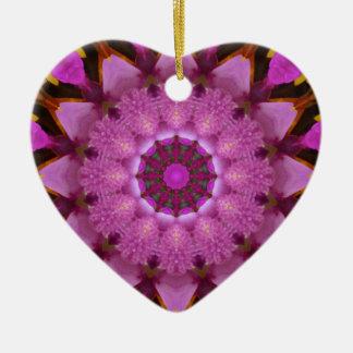Ornement Cœur En Céramique Rêve rose