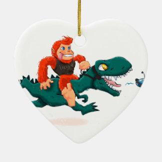 Ornement Cœur En Céramique Rex-bande dessinée Bigfoot de la Bigfoot-bande