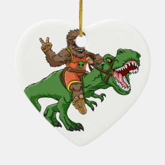 Ornement Cœur En Céramique rex Bigfoot de rex-T de la Bigfoot-bande dessinée