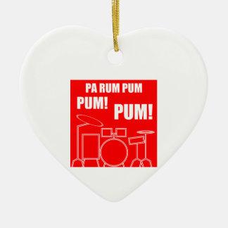 Ornement Cœur En Céramique Rhum Pum Pum Pum de PA