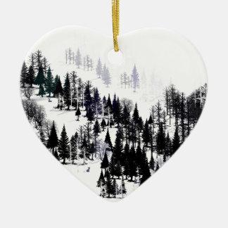 Ornement Cœur En Céramique Ridge des arbres
