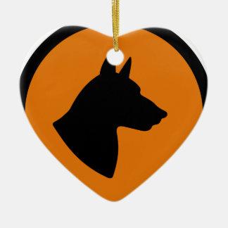 Ornement Cœur En Céramique Risque de chien
