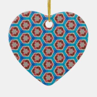 Ornement Cœur En Céramique Rivière de l'hexagone 1