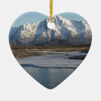 Ornement Cœur En Céramique Rivière maximale pionnière de montagne et de