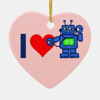 Ornement Cœur En Céramique Robot du coeur I