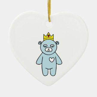 Ornement Cœur En Céramique Roi d'ours de nounours