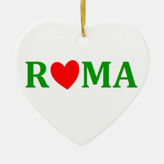 Ornement Cœur En Céramique Rome ville éternelle