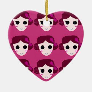Ornement Cœur En Céramique Rose de femmes de santé
