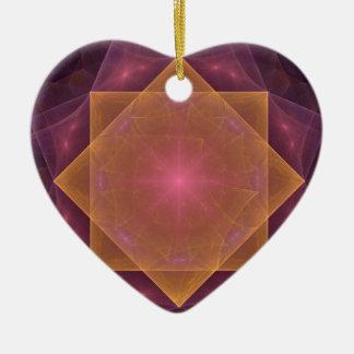 Ornement Cœur En Céramique Rose de vent