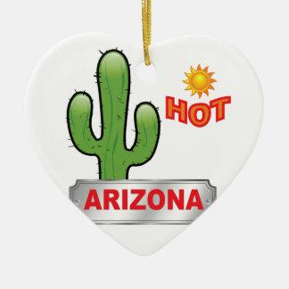 Ornement Cœur En Céramique Rouge chaud de l'Arizona