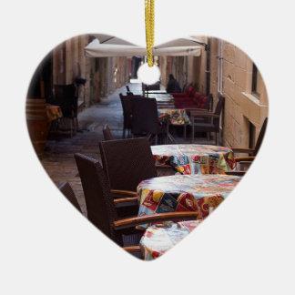 Ornement Cœur En Céramique Rue de détroit