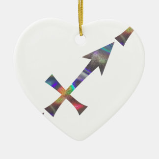 Ornement Cœur En Céramique Sagittaire d'hologramme