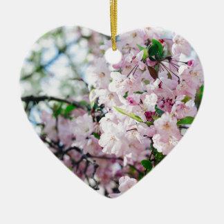 Ornement Cœur En Céramique Sakura