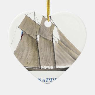 Ornement Cœur En Céramique Sappho 1871