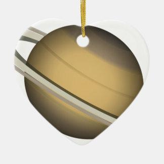 Ornement Cœur En Céramique Saturn