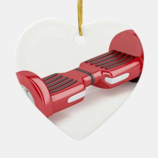Ornement Cœur En Céramique Scooter de auto-équilibrage rouge