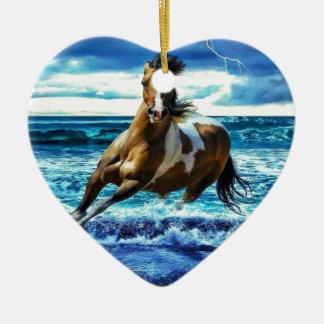 Ornement Cœur En Céramique Sea horse