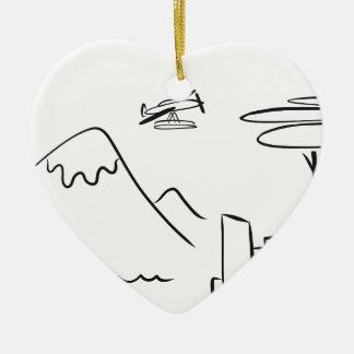Ornement Cœur En Céramique Seattle