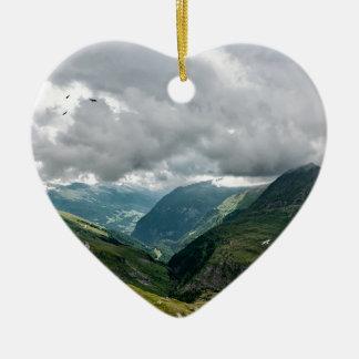 Ornement Cœur En Céramique Sec de vallée de Grossglockner