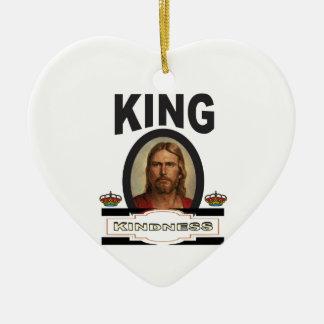 Ornement Cœur En Céramique seigneur de gentillesse de roi