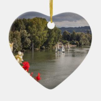 Ornement Cœur En Céramique Seine river, paris, France