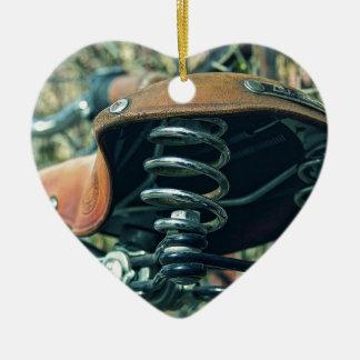 Ornement Cœur En Céramique Selle de bicyclette